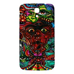 Abstract Psychedelic Face Nightmare Eyes Font Horror Fantasy Artwork Samsung Galaxy Mega I9200 Hardshell Back Case by Nexatart