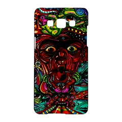 Abstract Psychedelic Face Nightmare Eyes Font Horror Fantasy Artwork Samsung Galaxy A5 Hardshell Case  by Nexatart