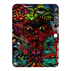 Abstract Psychedelic Face Nightmare Eyes Font Horror Fantasy Artwork Samsung Galaxy Tab 4 (10 1 ) Hardshell Case
