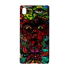 Abstract Psychedelic Face Nightmare Eyes Font Horror Fantasy Artwork Sony Xperia Z3+ by Nexatart