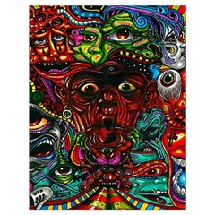 Abstract Psychedelic Face Nightmare Eyes Font Horror Fantasy Artwork Drawstring Bag (large) by Nexatart