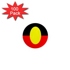 Flag Of Australian Aborigines 1  Mini Magnets (100 Pack)  by Nexatart