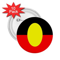 Flag Of Australian Aborigines 2 25  Buttons (10 Pack)  by Nexatart