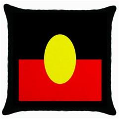 Flag Of Australian Aborigines Throw Pillow Case (black)