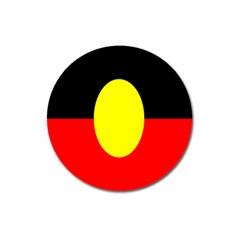 Flag Of Australian Aborigines Magnet 3  (round) by Nexatart