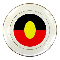 Flag Of Australian Aborigines Porcelain Plates by Nexatart