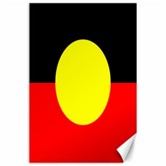 Flag Of Australian Aborigines Canvas 24  X 36  by Nexatart