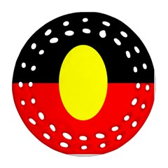 Flag Of Australian Aborigines Ornament (round Filigree)