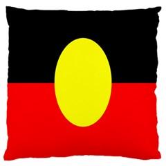 Flag Of Australian Aborigines Large Cushion Case (two Sides) by Nexatart