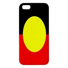 Flag Of Australian Aborigines Apple Iphone 5 Premium Hardshell Case by Nexatart