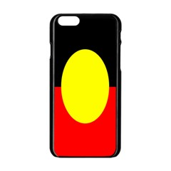 Flag Of Australian Aborigines Apple Iphone 6/6s Black Enamel Case by Nexatart