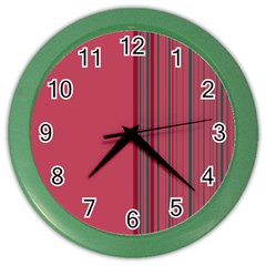 Lines Color Wall Clocks by ValentinaDesign