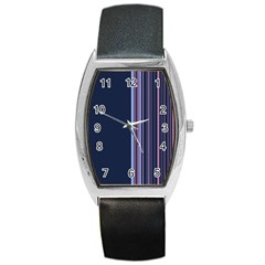 Lines Barrel Style Metal Watch by ValentinaDesign