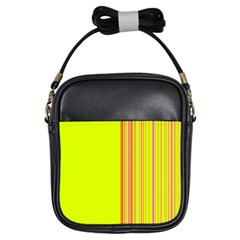 Lines Girls Sling Bags by ValentinaDesign