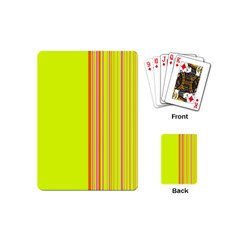 Lines Playing Cards (mini)  by ValentinaDesign
