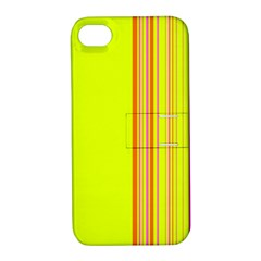Lines Apple Iphone 4/4s Hardshell Case With Stand by ValentinaDesign