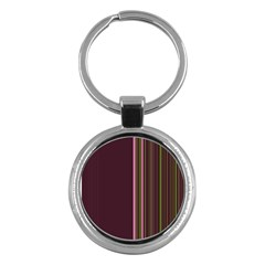 Lines Key Chains (round)  by ValentinaDesign