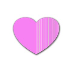 Lines Rubber Coaster (heart)  by ValentinaDesign