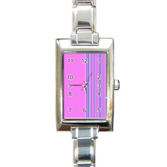 Lines Rectangle Italian Charm Watch by ValentinaDesign