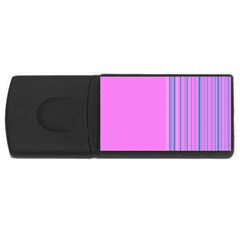 Lines Usb Flash Drive Rectangular (4 Gb) by ValentinaDesign