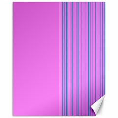 Lines Canvas 11  X 14   by ValentinaDesign