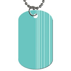 Lines Dog Tag (two Sides) by ValentinaDesign
