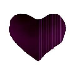 Lines Standard 16  Premium Flano Heart Shape Cushions by ValentinaDesign
