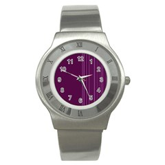 Lines Stainless Steel Watch by ValentinaDesign