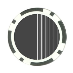 Lines Poker Chip Card Guard by ValentinaDesign