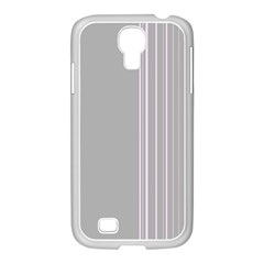 Lines Samsung Galaxy S4 I9500/ I9505 Case (white) by ValentinaDesign