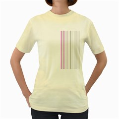 Lines Women s Yellow T Shirt by ValentinaDesign