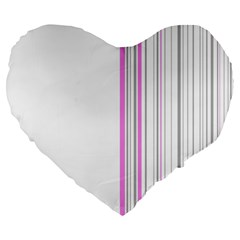 Lines Large 19  Premium Flano Heart Shape Cushions by ValentinaDesign