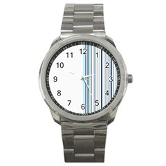 Lines Sport Metal Watch by ValentinaDesign