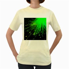 Big Bang Women s Yellow T Shirt by ValentinaDesign
