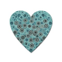 Abstract Aquatic Dream Heart Magnet by Ivana