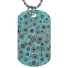 Abstract Aquatic Dream Dog Tag (one Side) by Ivana