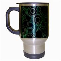 Abstract Aquatic Dream Travel Mug (silver Gray) by Ivana