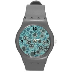 Abstract Aquatic Dream Round Plastic Sport Watch (m) by Ivana