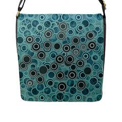 Abstract Aquatic Dream Flap Messenger Bag (l)  by Ivana