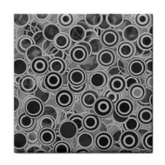 Abstract Grey End Of Day Tile Coasters by Ivana