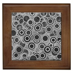 Abstract Grey End Of Day Framed Tiles by Ivana