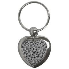 Abstract Grey End Of Day Key Chains (heart)