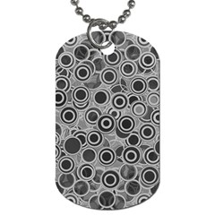 Abstract Grey End Of Day Dog Tag (one Side) by Ivana
