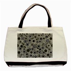 Abstract Grey End Of Day Basic Tote Bag (two Sides) by Ivana