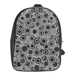 Abstract Grey End Of Day School Bags(large)  by Ivana