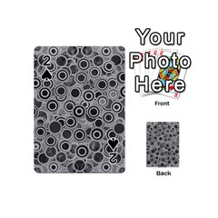 Abstract Grey End Of Day Playing Cards 54 (mini)  by Ivana