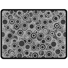 Abstract Grey End Of Day Double Sided Fleece Blanket (large)  by Ivana