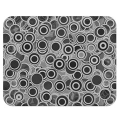 Abstract Grey End Of Day Double Sided Flano Blanket (medium)  by Ivana