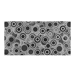 Abstract Grey End Of Day Satin Wrap by Ivana