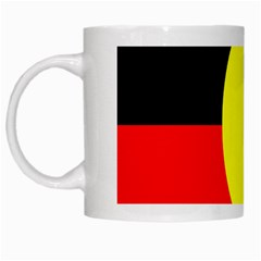 Flag Of Australian Aborigines White Mugs
